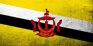 De Natie van Brunei, de Woonplaats van Vredes Nationale vlag Achtergrond Grunge de Achtergrond van Grunge vector illustratie