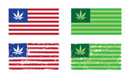 De Natie van de cannabis - de Vlaggen van de V.S. royalty-vrije illustratie