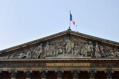 De nationale assemblage in Parijs Stock Afbeelding