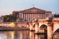 De Nationale assemblee van Assembleenationale in Parijs, Frankrijk royalty-vrije stock foto