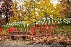 De Nationale Begraafplaats van Arlington van de bank Royalty-vrije Stock Foto's