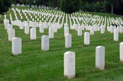 De Nationale Begraafplaats van Arlington in Washington DC Stock Foto
