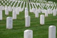 De Nationale Begraafplaats van Arlington in Washington DC Stock Foto's