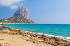 De nationale berg van Parkpenyal d'Ifac stock afbeeldingen