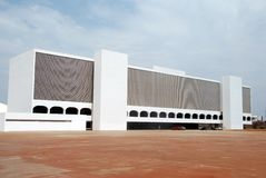 De nationale Bibliotheek in Brasilia Royalty-vrije Stock Afbeeldingen