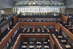De Nationale Bibliotheek van China in Peking stock foto