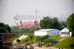 De nationale bouwwerf van het Stadion royalty-vrije stock afbeelding