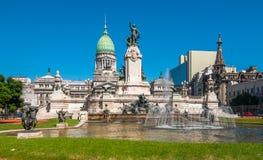 De nationale Congresbouw, Buenos aires, Argentinië Stock Afbeeldingen