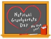 De nationale Dag van Grootouders Stock Foto's