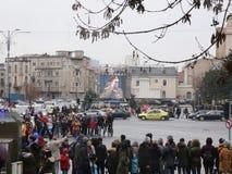 De nationale dag van Roemenië 2017 stock footage