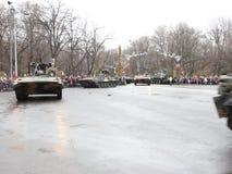 De nationale dag van Roemenië 2017 - militaire parade stock videobeelden
