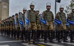 De Nationale Dag van Roemenië, militaire politie