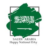 De nationale dag van Saudi-Arabië in 23 September Th royalty-vrije illustratie
