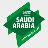 De nationale dag van Saudi-Arabië in 23 September Th stock illustratie