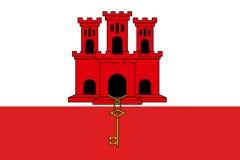 De nationale de vlag vectorillustratie van Gibraltar royalty-vrije illustratie