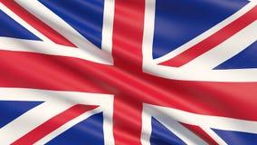 De nationale die vlag van het Verenigd Koninkrijk is Union Jack, ook als de Unie Vlag wordt bekend stock illustratie