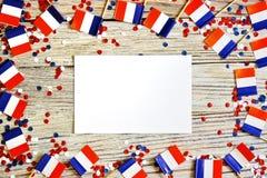 De nationale feestdag van 14 Juli is een gelukkige Onafhankelijkheidsdag van Frankrijk, Bastille-Dag, het concept patriottisme, g royalty-vrije stock foto