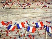 De nationale feestdag van 14 Juli is een gelukkige Onafhankelijkheidsdag van Frankrijk, Bastille-Dag, het concept patriottisme, g stock foto