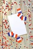 De nationale feestdag van 14 Juli is een gelukkige Onafhankelijkheidsdag van Frankrijk, Bastille-Dag, het concept patriottisme, g royalty-vrije stock foto's