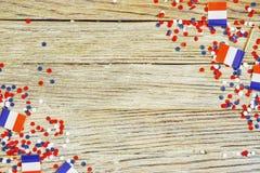 De nationale feestdag van 14 Juli is een gelukkige Onafhankelijkheidsdag van Frankrijk, Bastille-Dag, het concept patriottisme, g royalty-vrije stock fotografie