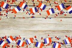 De nationale feestdag van 14 Juli is een gelukkige Onafhankelijkheidsdag van Frankrijk, Bastille-Dag, het concept patriottisme, g stock fotografie