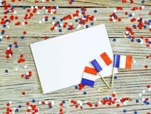 De nationale feestdag van 14 Juli is een gelukkige Onafhankelijkheidsdag van Frankrijk, Bastille-Dag, het concept patriottisme, g stock foto's