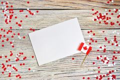De nationale feestdag van 1 Juli - de gelukkige dag van Canada, Heerschappijdag, het concept patriottisme, onafhankelijkheid en g stock afbeelding