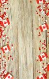 De nationale feestdag van 1 Juli - de gelukkige dag van Canada, Heerschappijdag, het concept patriottisme, onafhankelijkheid en g royalty-vrije stock afbeeldingen