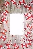 De nationale feestdag van 1 Juli - de gelukkige dag van Canada, Heerschappijdag, het concept patriottisme, onafhankelijkheid en g stock fotografie