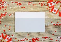 De nationale feestdag van 1 Juli - de gelukkige dag van Canada, Heerschappijdag, het concept patriottisme, onafhankelijkheid en g stock foto's