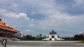 De nationale HerdenkingsZaal van de Democratie van Taiwan stock video