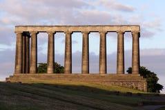 De nationale Heuvel van Calton van het monument, Edinburgh, Schotland stock afbeelding