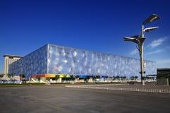 De nationale Kubus van het Water van het Centrum Aquatics in Peking Royalty-vrije Stock Fotografie