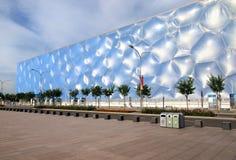 De nationale Kubus van het Water van het Centrum Aquatics in Peking Stock Afbeeldingen