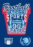 De nationale liga van voetbalsporten stock illustratie
