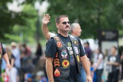 De Nationale Memorial Day -Parade stock foto