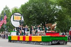 De Nationale Memorial Day -Parade stock afbeelding