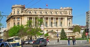 De Nationale Militaire Cirkel (Cercul Nationale Militar) in Boekarest Van de binnenstad stock videobeelden