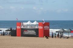 De nationale Scholastische het Surfen Vereniging het surfen concurrentie Stock Fotografie