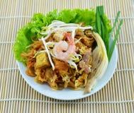 De nationale schotels van Thailand, be*wegen-gebraden rijstnoedels Royalty-vrije Stock Foto's