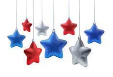 De nationale sterren van het kleurenNieuwjaar Royalty-vrije Stock Afbeelding
