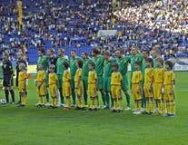 De nationale teams van Litouwen bij voetbalgelijke Royalty-vrije Stock Afbeelding