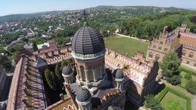 De Nationale Universiteit van Fedkovych Chernivtsi van Yuriy Chernovtsi, Europa stock videobeelden