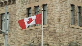 De nationale vlag van Canada stock footage