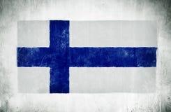 De Nationale Vlag van Finland Stock Foto