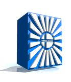 De nationale vlag van Finland Stock Afbeelding