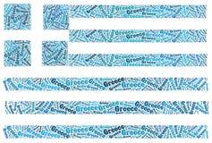 De nationale vlag van Griekenland Stock Fotografie