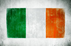 De Nationale Vlag van Ierland royalty-vrije stock foto's