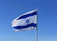 De nationale vlag van Israël Stock Foto