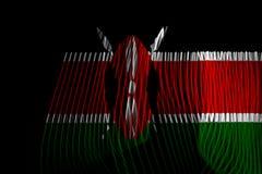De Nationale Vlag van Kenia stock illustratie